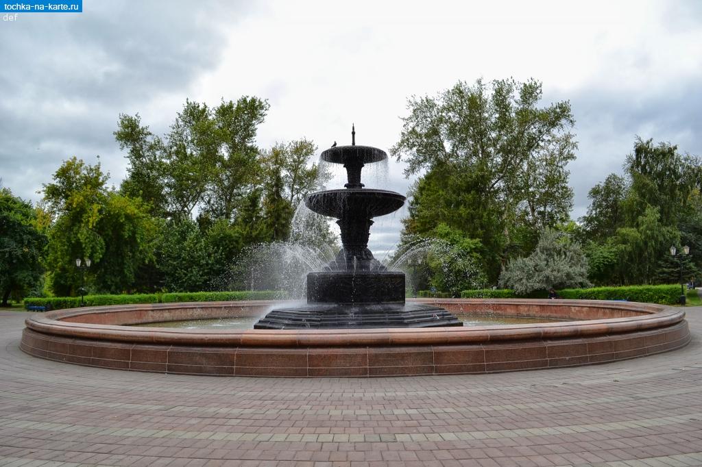 Омская область. Фонтан «Каменный цветок» в Омске