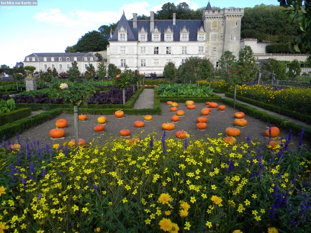 Франция вилландри сад огород